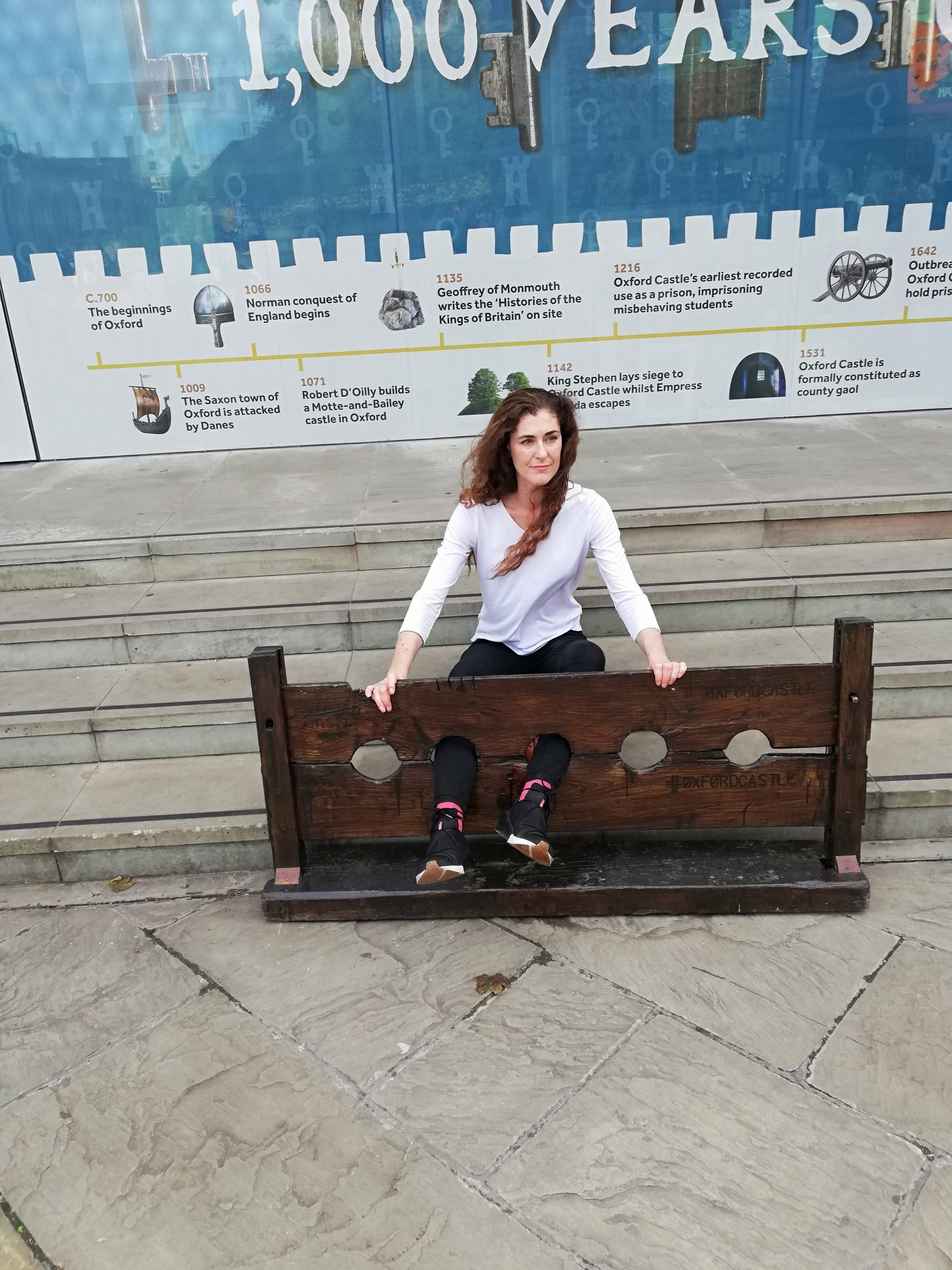 A day in the stocks, when your feet were locked into two wooden panels and you can't get out